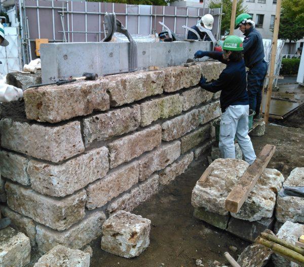 大谷石の石積み